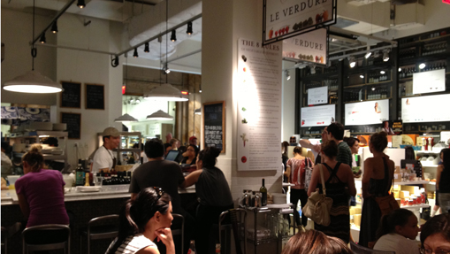 Eataly, NYC. A great example of how a place can celebrate food. Photo: LShieh